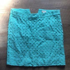 EUC jcrew eyelet skirt